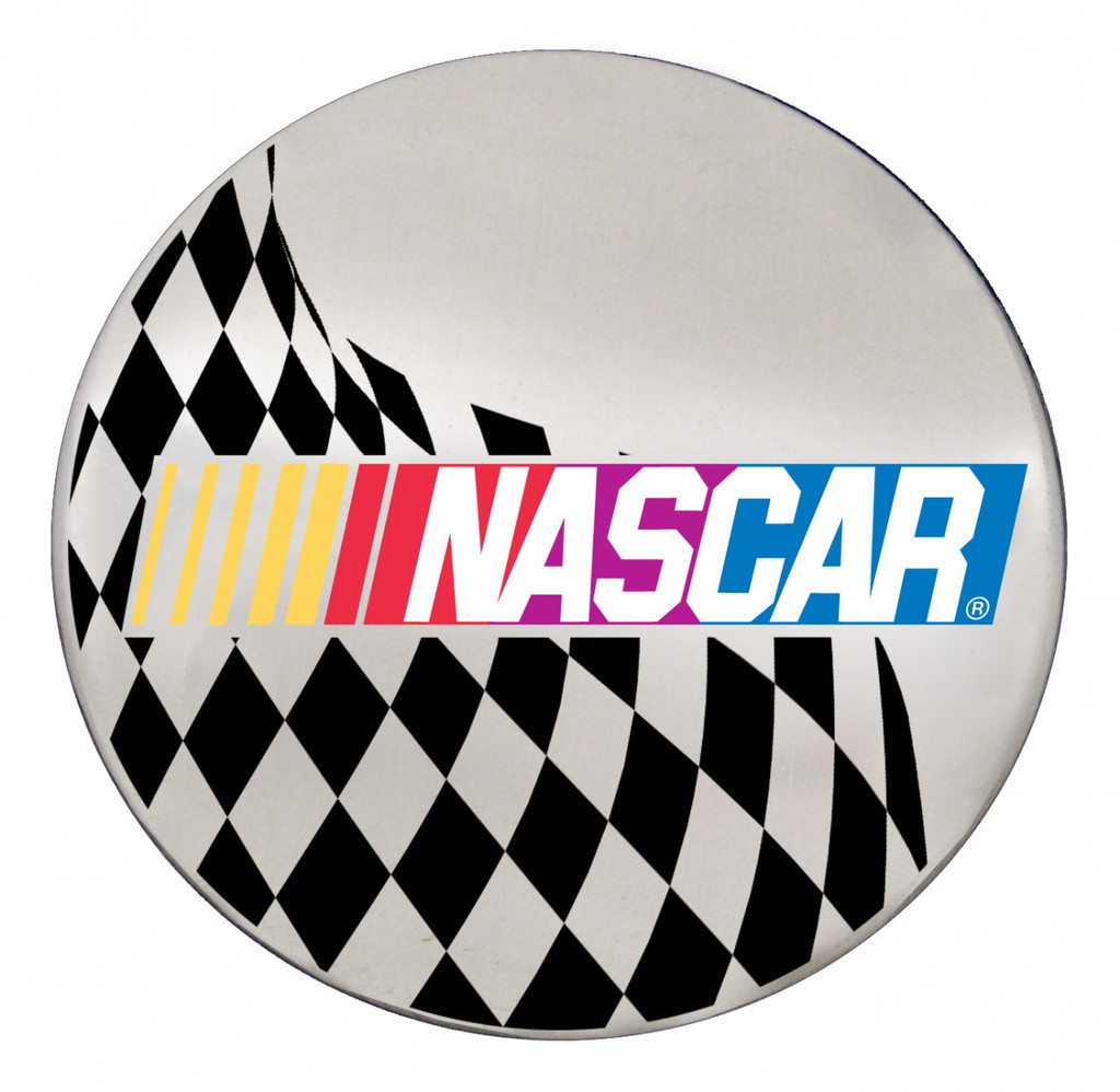 NASCAR Logo w/ Checkered Flag on Chrome