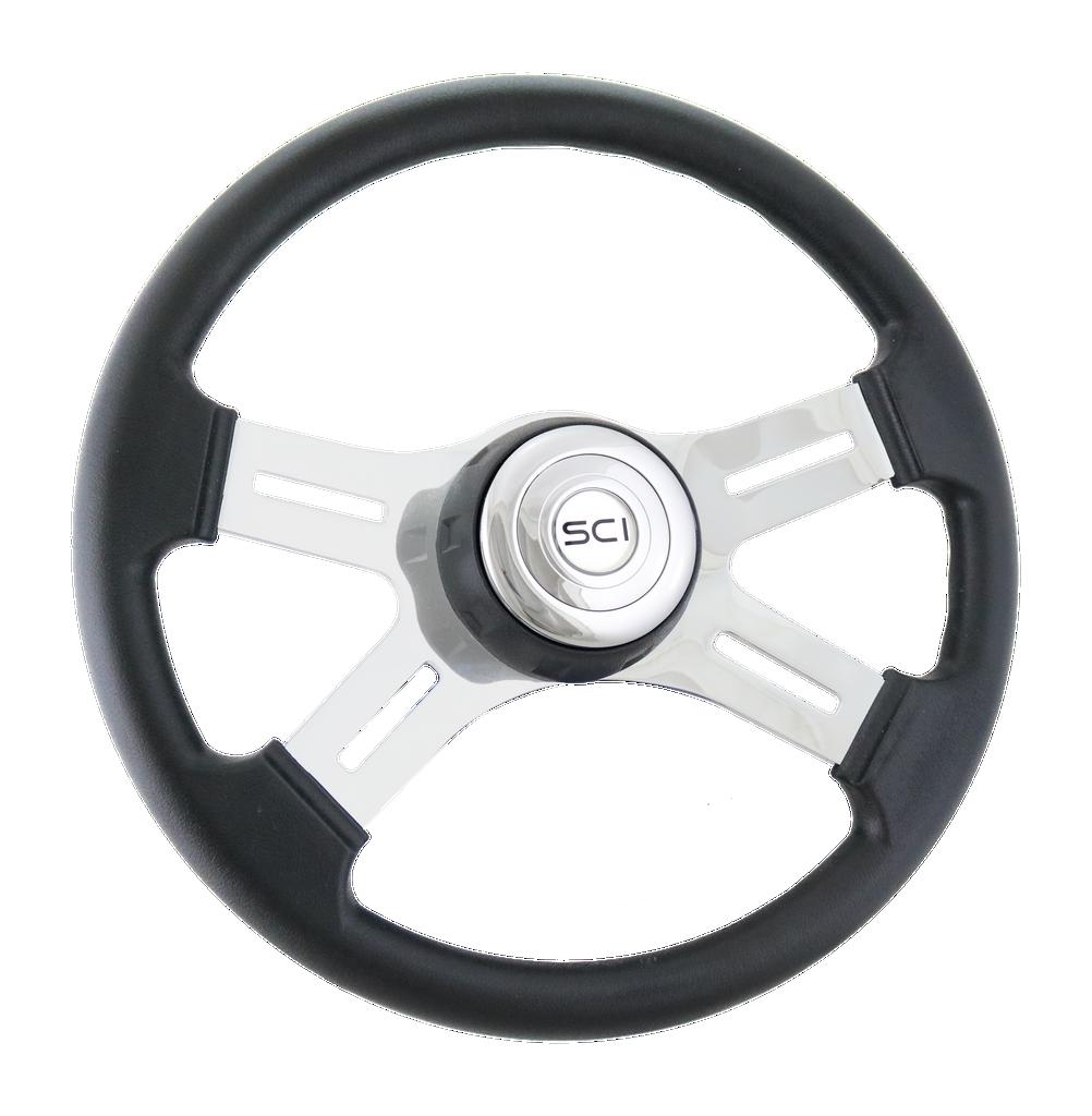 "16"" Classic Polyurethane - Chrome Horn Button"