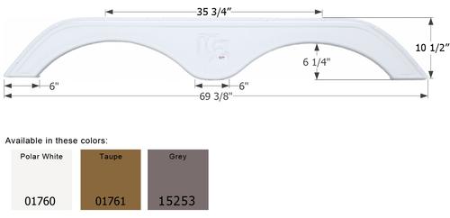 KZ 5th Wheel Travel Trailer Fender Skirt FS1760