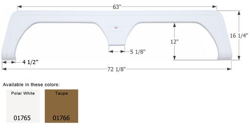 Keystone 5th Wheel Travel Trailer Fender Skirt  FS1765