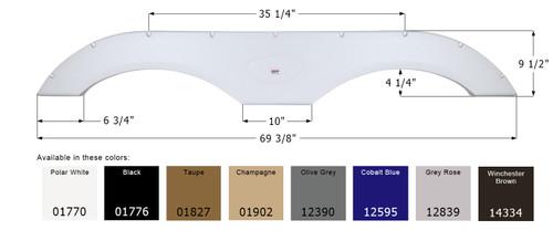 Tandem Fender Skirt  FS1770