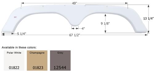 Thor 5th Wheel Travel Trailer Fender Skirt FS1822