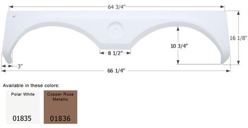 Gulf Stream 5th Wheel Travel Trailer Fender Skirt FS1835