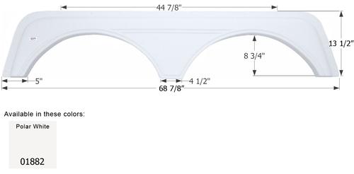 KZ 5th Wheel Travel Trailer Fender Skirt  FS1882