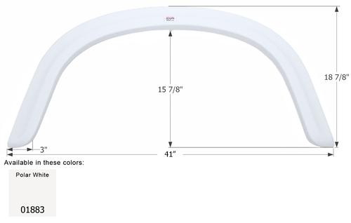 Four Winds Single Axle Fender Skirt FS1883