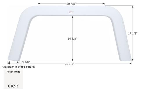 Four Winds Single Axle Fender Skirt FS1893