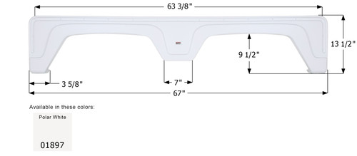 Glendale 5th Wheel Travel Trailer Fender Skirt FS1897