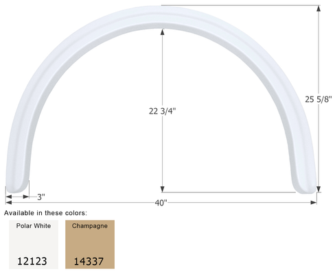 Four Winds Single Axle Fender Skirt FS2123