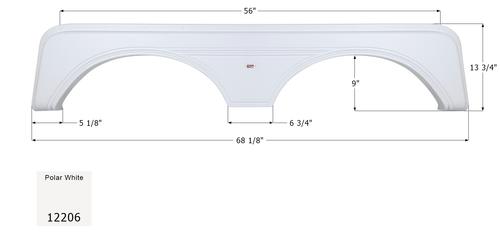 Carriage Tandem Fender Skirt FS2206