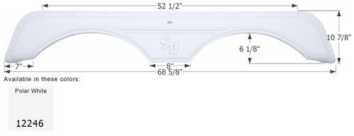 Sunnybrook Tandem Fender Skirt FS2246