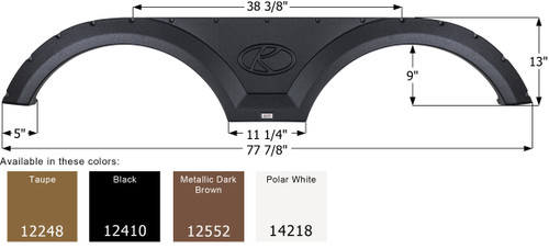 Keystone Tandem Fender Skirt FS2248