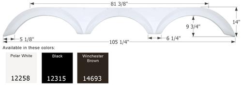 Forest River Triple Axle Fender Skirt FS2258