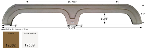 Ameri-Camp Tandem Fender Skirt FS2382