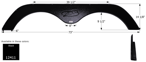 R-Vision 5th Wheel Travel Trailer Fender Skirt FS2411