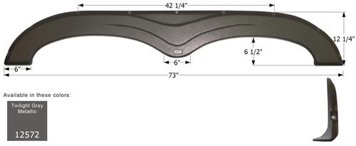 Keystone Tandem Fender Skirt FS2572