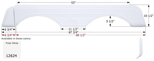 Sunnybrook Tandem Fender Skirt FS2624