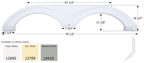 Evergreen Tandem Fender Skirt FS2695