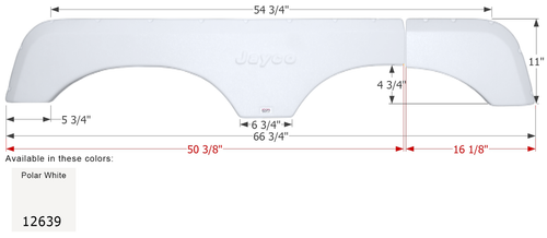 Jayco Tandem Fender Skirt FS2639