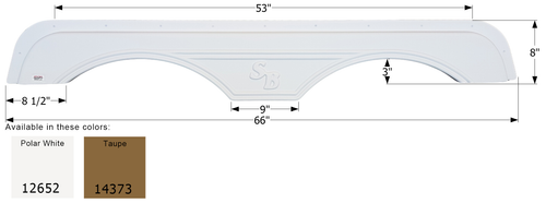 Sunnybrook Tandem Fender Skirt FS2652