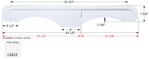 Sunnybrook Tandem Fender Skirt FS2623