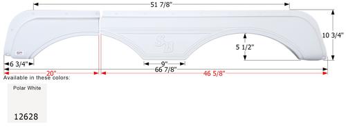 Sunnybrook Tandem Fender Skirt FS2628