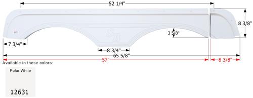 Sunnybrook Tandem Fender Skirt FS2631