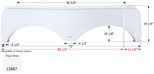 Sunnybrook Tandem Fender Skirt FS2667