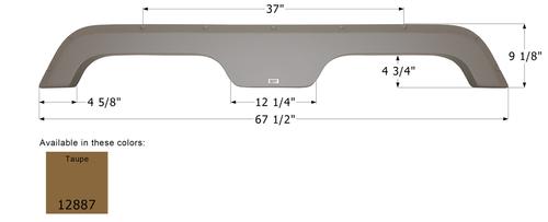 R-Vision Tandem Fender Skirt FS2887