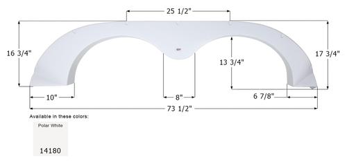 R-Vision Tandem Fender Skirt FS4180