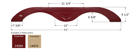 R-Vision Tandem Fender Skirt FS4264