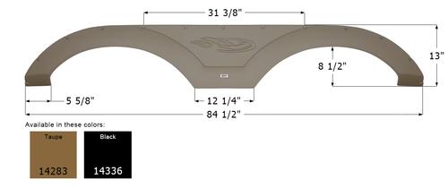 Forest River Tandem Fender Skirt FS4283