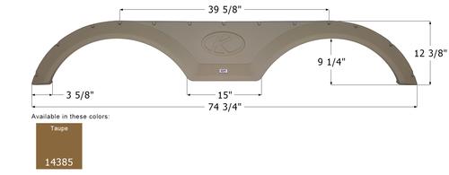 Keystone Tandem Fender Skirt FS4385