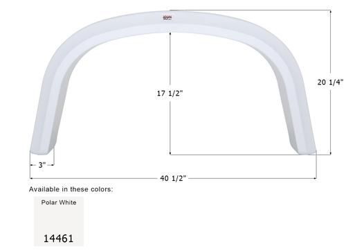 Four Winds Single Axle Fender Skirt FS4461
