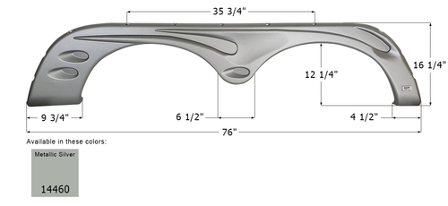 Forest River Tandem Axle Fender Skirt FS4459
