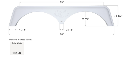 Keystone Tandem Fender Skirt FS4458