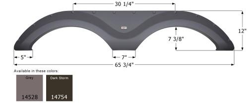 Cruiser Tandem Fender Skirt  FS4528