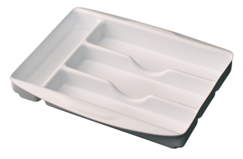 Sliding Cutlery Tray - White
