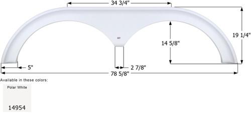 Forest River Surveyor Tandem Fender Skirt FS4954