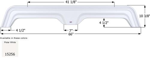 Extreme RV Tandem Fender Skirt  FS5256