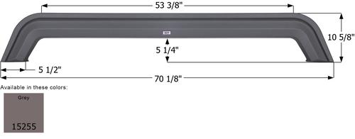 Forest River Tandem Fender Skirt FS5255
