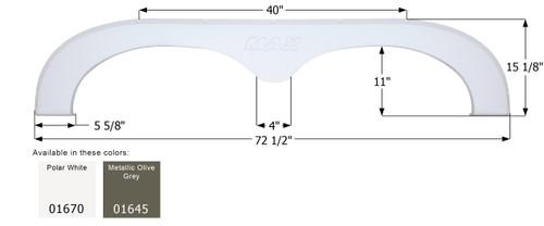 R-Vision 5th Wheel Travel Trailer Fender Skirt FS781
