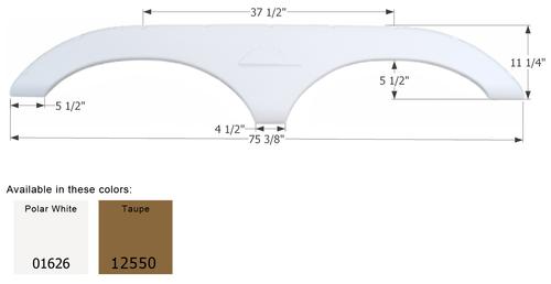 Keystone Tandem Fender Skirt FS772