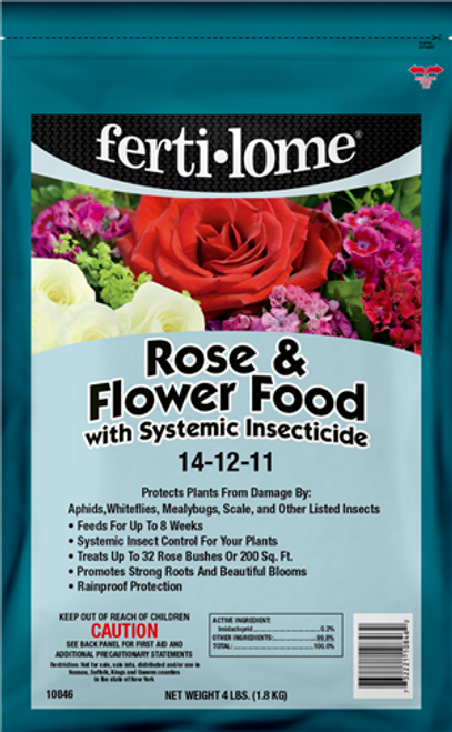 Rose & Flower Food Plus Insecticide 4LB