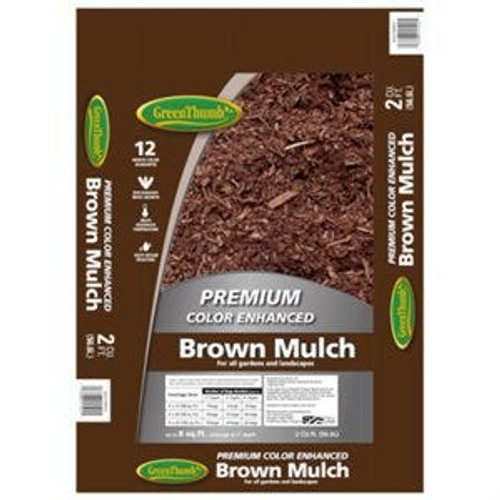 Mulch Brown Colored 2 cubic foot