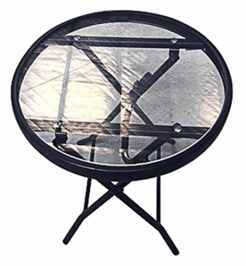 "Folding Table Round Steel 16"""