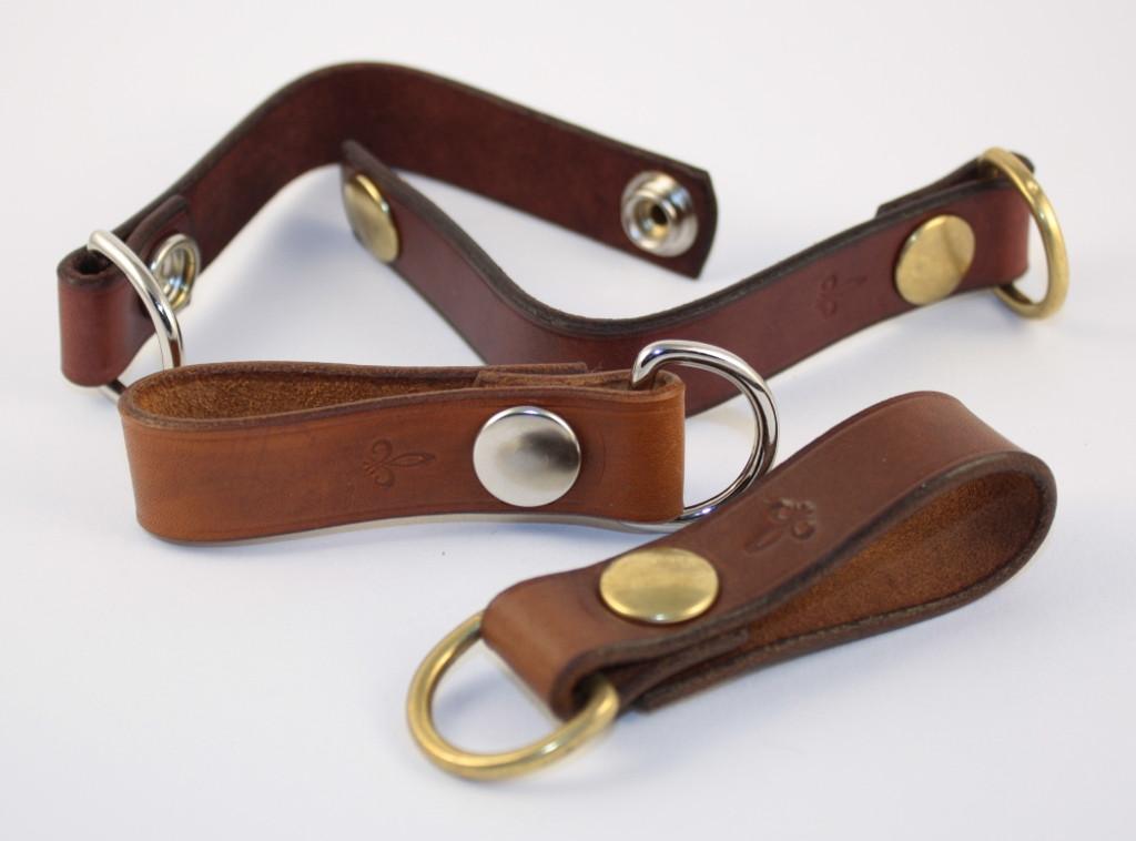 Schlüsselanhänger mit Ring und Druckknopf
