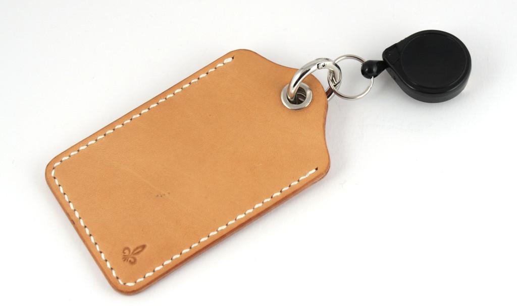 RFID-Kartenhülle in natur mit Gürtelclip