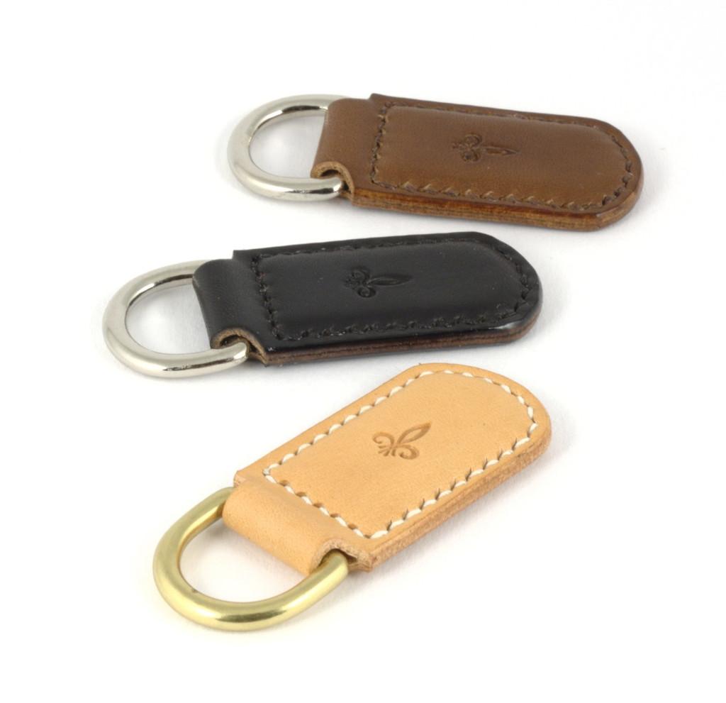 Schlüsselanhänger zu Schlüsselbrett in natur, schwarz und mittlebraun