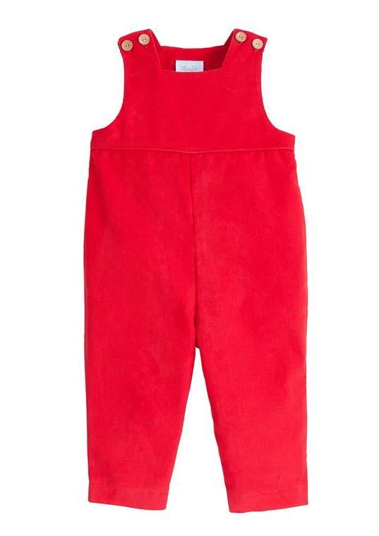 Red Corduroy Overalls
