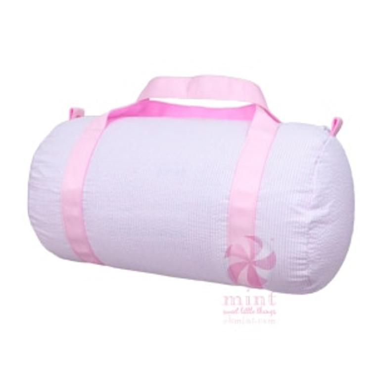 Seersucker Duffel Bag - Pink with Pink